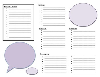 Set Design for School Musical: Ideas & Requirements BLANK Template