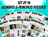 Set Elements and Principles of Design Block Posters Art Cl