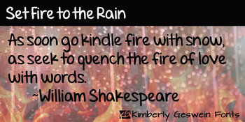 Set Fire to the Rain Font: Personal Use
