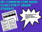 Set Goals for Math Common Core Standards