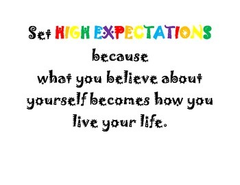 Set High Expectations Poster