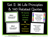 Set II:  36 Life Principle Definition Posters and 140 Quot