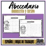 Abecedario manuscrito / cursivo (Hojas de trabajo)   Spanish ABC (worksheets)