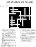 Set One 5 Biology Crosswords  -Macromolecules and Cells with Keys