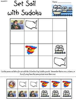 Columbus Day Primary Sudoku
