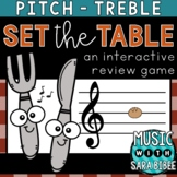 Set The Table (Treble) an Interactive Music Concept Review Game