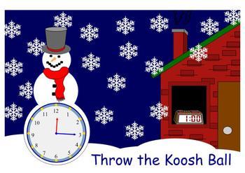 Time Hour and Half Hour SMARTBoard Koosh Ball Game