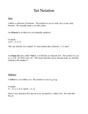 Set Theory Notes