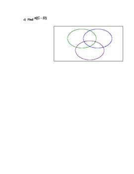 Set Theory - Set Operations Word Problems Worksheet