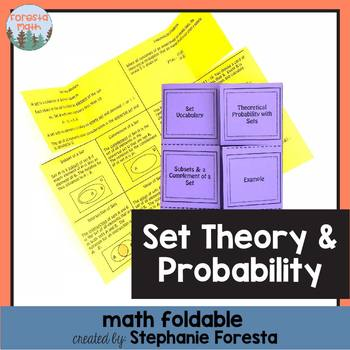 Set Theory and Probability Foldable
