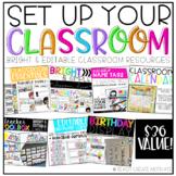 Set Up Your Classroom BUNDLE {Editable!}