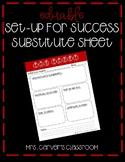 Editable Set Up for Success Sub Sheet