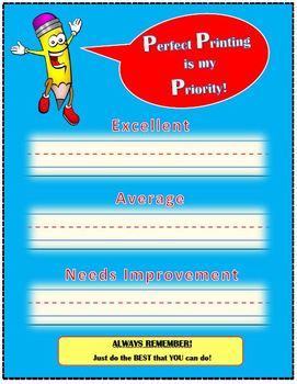 """""""Set-Your-Own Standard"""" Printing Evaluation Chart for JK-Gr. 2"""