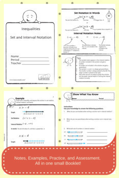 Set and Interval Notation (English/Spanish)