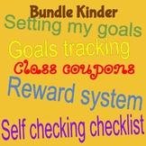 GOALS TRACKING, COUPONS, WRITING SELF CHECK-LIST, & MORE - KINDER BUNDLE