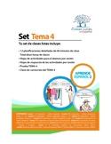 Set de 12 Clases Listas de Español. Tema 4. Libro 2 Aprend
