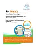 Set de 5 Clases Listas de Español. Tema 2. Libro 2