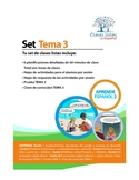 Set de 6 Clases Listas de Español. Tema 3 Libro 2 Aprende Español