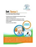 Set de 8 Clases Listas de Español, Tema 1 Libro 2