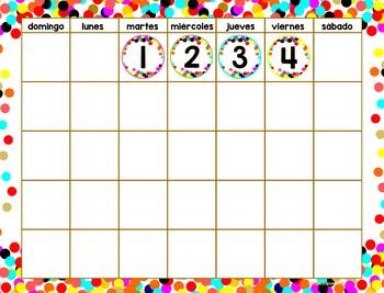 Set de Calendario - Conffetti (sin globos)