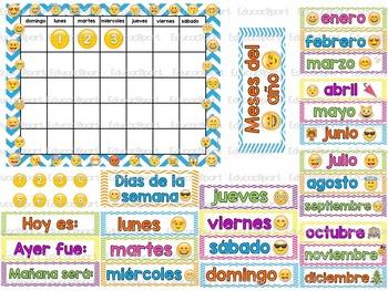 Emoji Del Calendario.Set De Calendario Emoticons Emoji