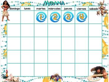 Set de Calendario: Moana