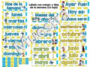Set de Calendario: Pitufos (Smurfs)