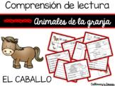 Comprensión de lectura. Animales de la granja: el caballo.