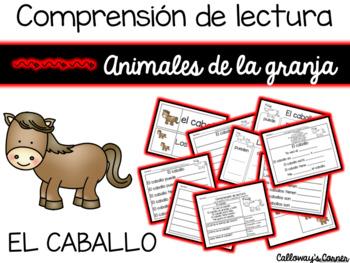 Set de comprensión de lectura. Animales de la granja: caballo.