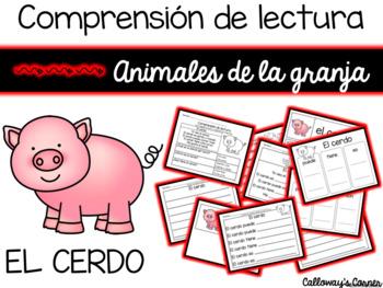 Comprensión de lectura. Animales de la granja: el cerdo.