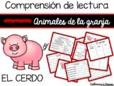 Set de comprensión de lectura. Animales de la granja: cerdo.