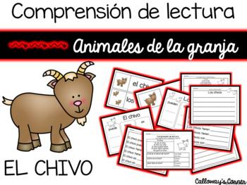 Comprensión de lectura. Animales de la granja: el chivo.