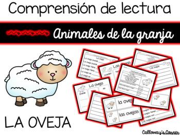 Set de comprensión de lectura. Animales de la granja: oveja.