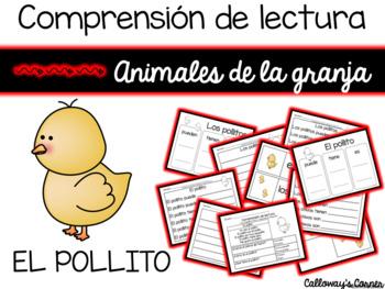 Comprensión de lectura. Animales de la granja: el pollito.