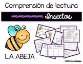 Comprensión de lectura. Insectos: la abeja.