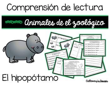 Comprensión de lectura. Zoológico: el hipopótamo