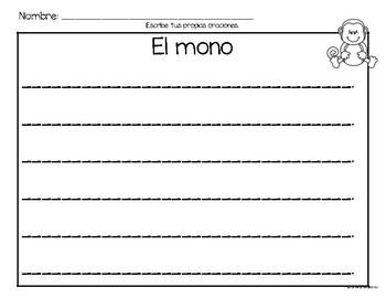 Set de comprensión de lectura. Zoológico: el mono