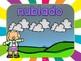 Set del Tiempo y Estaciones (Fondo Rayos) - Spanish Weather and Seasons set