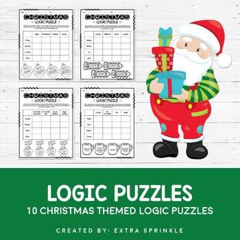Set of 10 Christmas Logic Puzzles