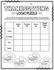 Set of 10 Thanksgiving Logic Puzzles