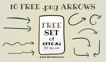 Set of 10 .png arrows