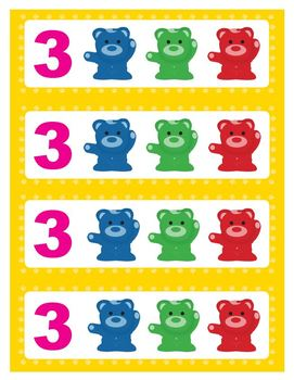 Set of 100 Counting Bears + 128 Pattern Cards