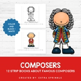 Set of 12 Composers Biography Strip Books