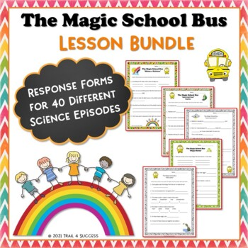 Magic School Bus Science Bundle 32 Video Response Worksheets