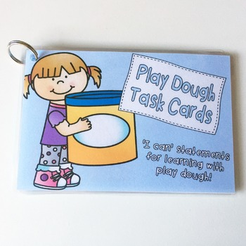 Set of 12 Play Dough Task Cards for Hands on Learning