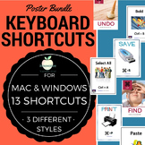 Keyboard Shortcut Posters Bundle (Apple Mac & Windows PC)