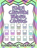 Set of 15 Funky Chevron Binder Covers