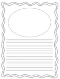 Set of 18 Doodle  Frame Lined Writing Paper  8.5 x 11