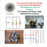 Set of 18 Physics Matching Worksheets in Electricity and M