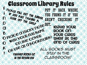 Set of 2 Classroom Library Signs